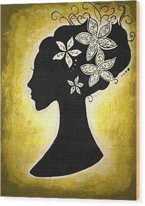 Bella Dama Wood Print by Brandy Nicole Neal