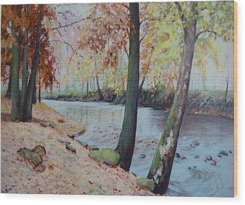 Beside The Still Waters Wood Print