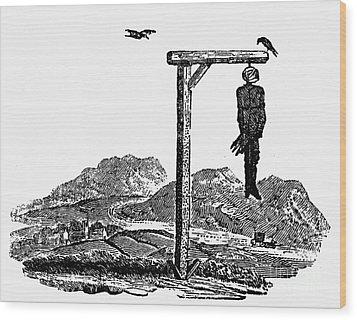 Bewick: Hanged Man Wood Print by Granger