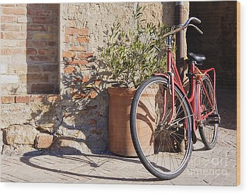 Bicycle Wood Print by Jeremy Woodhouse