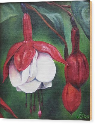 Wood Print featuring the painting Big Bold And Beautiful by Lori Brackett