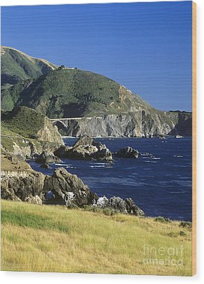 Big-sur-t1-3 Wood Print by Craig Lovell