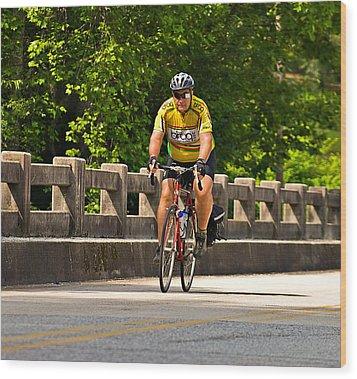 Bike Ride Across Georgia Wood Print by Susan Leggett