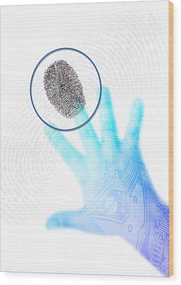 Biometric Security, Artwork Wood Print by Victor Habbick Visions