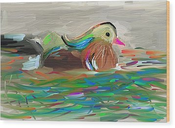 Bird Wood Print by Bogdan Floridana Oana