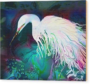 Bird Of Paradise Wood Print by Doris Wood