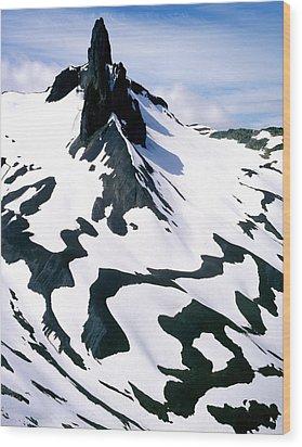 Black Tusk Wood Print by John  Bartosik