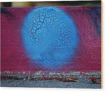 Blue Circle  Wood Print by Ludmil Dimitrov
