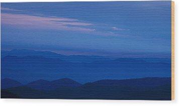 Blue Ridge Panorama Wood Print by Andrew Soundarajan