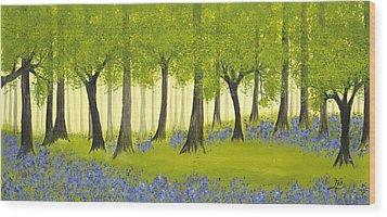 Bluebell Grove Wood Print