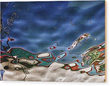 Boat Reflexion Wood Print by Stelios Kleanthous