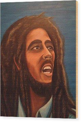 Bob Marley Wood Print by Biren Biren