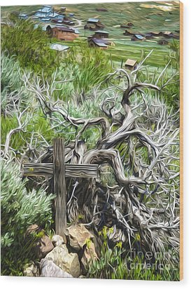 Bodie Ghost Town - Boot Hill 02 Wood Print by Gregory Dyer