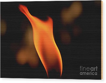 Body Of Fire 2 Wood Print by Arie Arik Chen