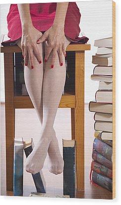 Books Wood Print by Joana Kruse