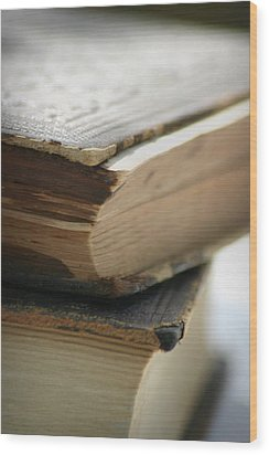 Books Wood Print by Kelly Hazel