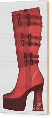 Boot, X-ray Wood Print by Ted Kinsman