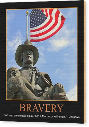 Bravery Wood Print by PMG Images