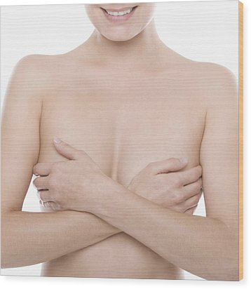 Breast Self-examination Wood Print by