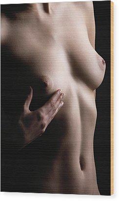 Breast Self-examination Wood Print by Mauro Fermariello