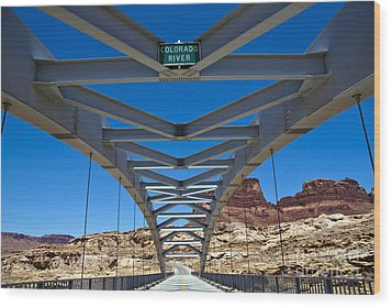 Bridge Across Colorado Wood Print by Scotts Scapes