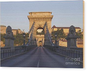 Bridge Wood Print by David Buffington
