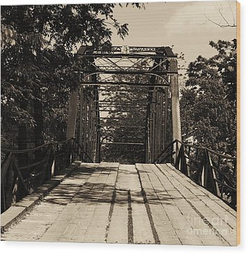 Wood Print featuring the photograph Bridge by Julie Clements