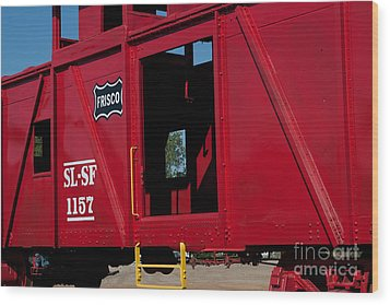 Brilliant Vintage Rail Car Wood Print by Lawrence Burry