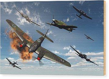 British Hawker Hurricane Aircraft Wood Print by Mark Stevenson