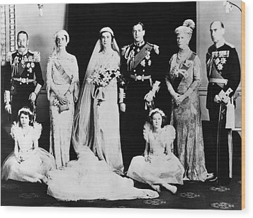 British Royal Family. Seated, From Left Wood Print by Everett