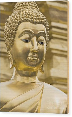 Buddha's Statue Wood Print by Roberto Morgenthaler