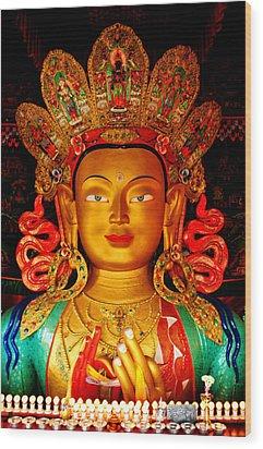 Budha  Wood Print by Saira Ks