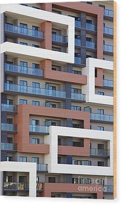 Building Facade Wood Print by Carlos Caetano