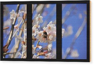 Bumble Bee Wood Print by Svetlana Sewell