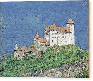 Burg Gutenberg Balzers Litchtenstein Wood Print by Joseph Hendrix