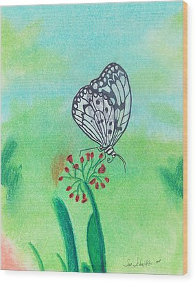 Butterfly Wood Print by Susan Schmitz