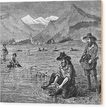 California Gold Rush Wood Print by Granger