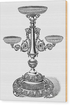 Candelabra Wood Print by Granger
