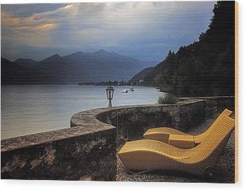 Canvas Chairs Wood Print by Joana Kruse