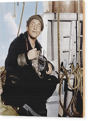 Captains Courageous, Spencer Tracy, 1937 Wood Print by Everett
