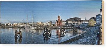Cardiff Bay Panorama Wood Print