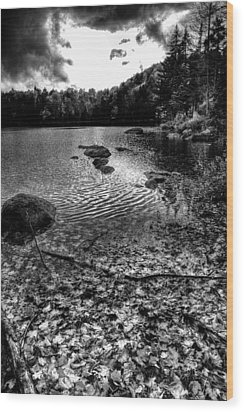 Cary Lake After The Storm Wood Print by David Patterson