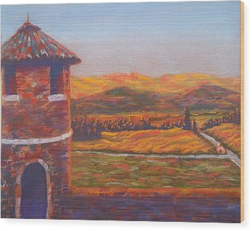 Castello Di Amorosa Wood Print by Becky Chappell