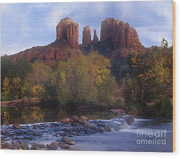 Cathedral Rock Wood Print by Darleen Stry