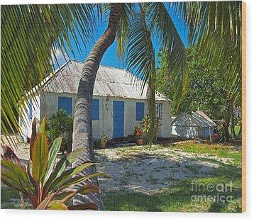 Cayman Islands Cottage Wood Print by James Brooker