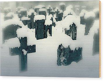 Cemetery Wood Print by Joana Kruse