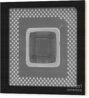 Central Processor Wood Print by Ted Kinsman