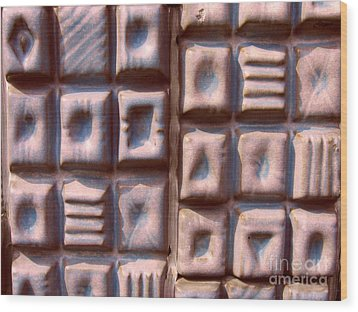 Ceramic Tiles Wood Print by Yali Shi