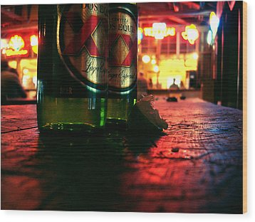 Cervezas Wood Print