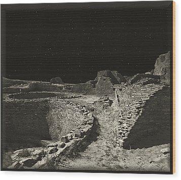Chaco Canyon Wood Print by Gordon Engebretson